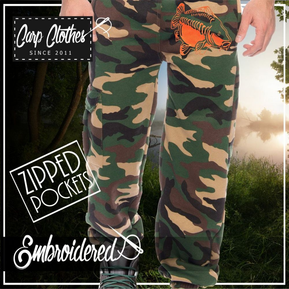 009 EMBROIDERED CAMO JOGGERS